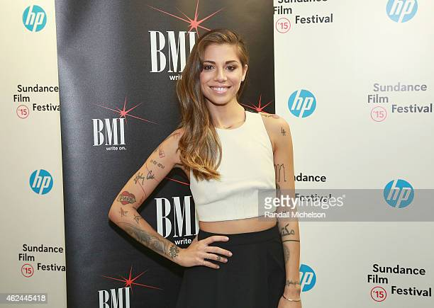 Singersongwriter Christina Perri attends the BMI Snowball at Sundance House on January 28 2015 in Park City Utah
