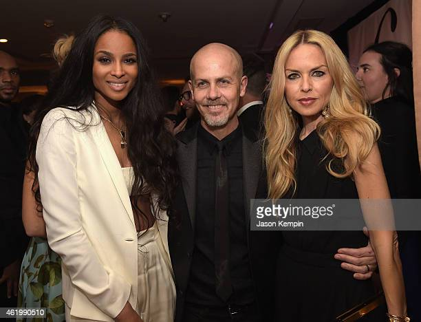 Singer/songwriter Ciara honoree Italo Zucchelli and Rachel Zoe attend The DAILY FRONT ROW 'Fashion Los Angeles Awards' Show at Sunset Tower on...