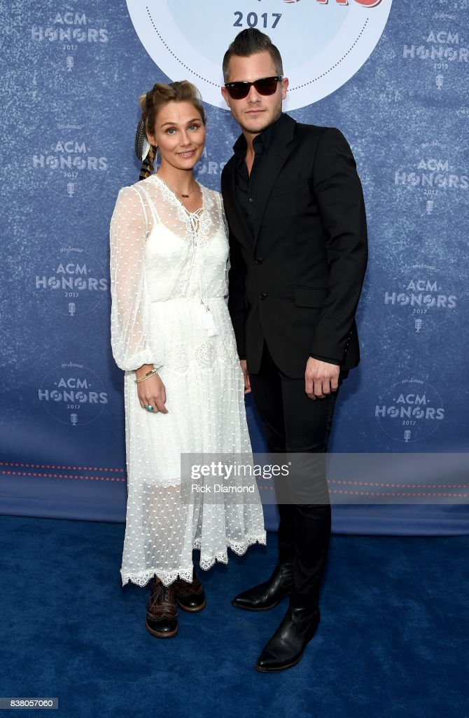 Singer-songwriter Clare Bowen and Brandon Robert Young attend the 11th Annual ACM Honors at the Ryman Auditorium on August 23, 2017 in Nashville, Tennessee.