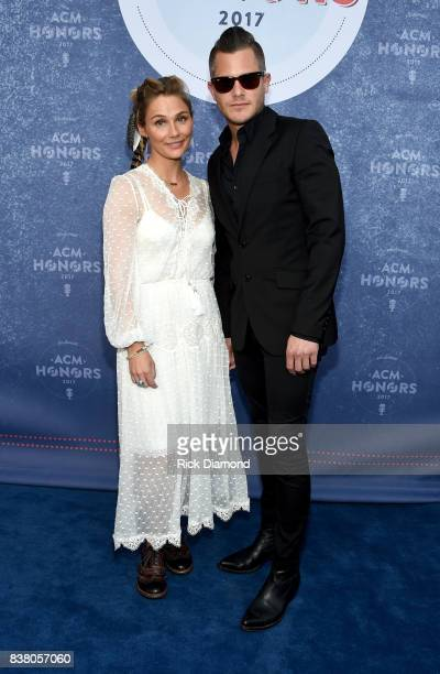 Singersongwriter Clare Bowen and Brandon Robert Young attend the 11th Annual ACM Honors at the Ryman Auditorium on August 23 2017 in Nashville...