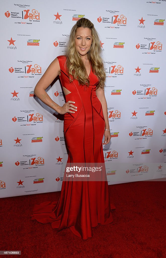 Singer-songwriter Colbie Caillat attends Go Red For Women The Heart Truth Red Dress Collection 2014 Show Made Possible By Macy's And SUBWAY Restaurants at The Theatre at Lincoln Center on February 6, 2014 in New York City.