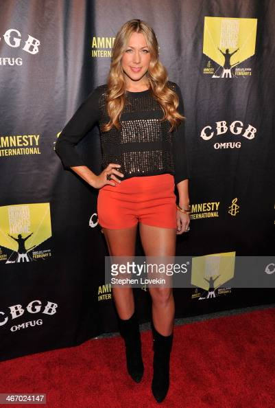 Singer/songwriter Colbie Caillat attends the Amnesty International Concert presented by the CBGB Festival at Barclays Center on February 5 2014 in...
