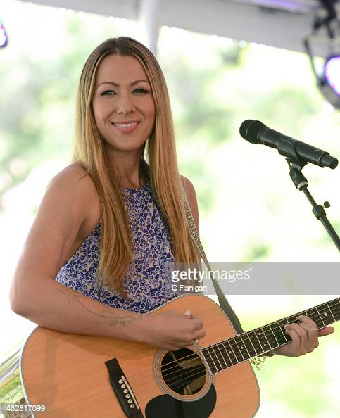 Singersongwriter Colbie Caillat performs at the Sutter Home Winery during the 2014 Live in the Vineyard on April 4 2014 in Napa California