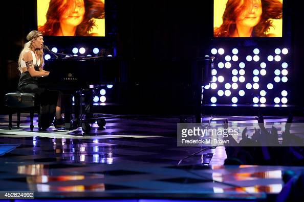 Singersongwriter Colbie Caillat performs onstage at the 2014 Young Hollywood Awards brought to you by Samsung Galaxy at The Wiltern on July 27 2014...