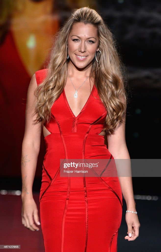 Singer-songwriter Colbie Caillat, wearing Nicole Miller, walks the runway at Go Red For Women - The Heart Truth Red Dress Collection 2014 Show Made Possible By Macy's And SUBWAY Restaurants at The Theatre at Lincoln Center on February 6, 2014 in New York City.