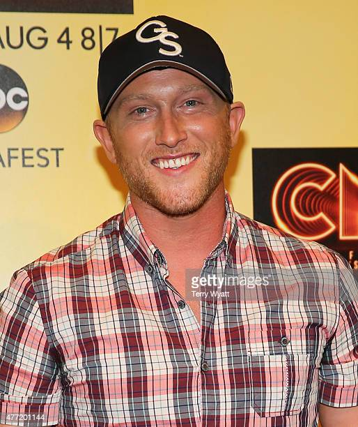 SingerSongwriter Cole Swindell attends a preshow press conference during day 4 of the 2015 CMA Festival on June 14 2015 in Nashville Tennessee