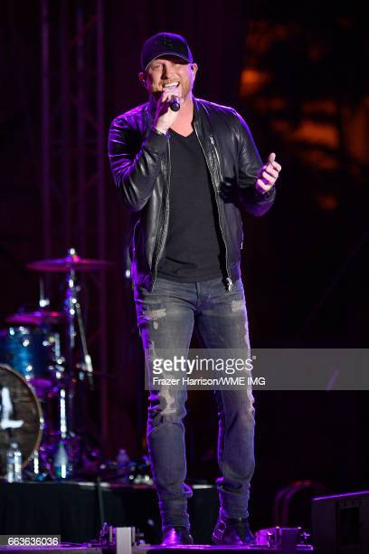Singersongwriter Cole Swindell performs onstage at the Bash at the Beach presented by WME at the Mandalay Bay Beach at Mandalay Bay Resort and Casino...