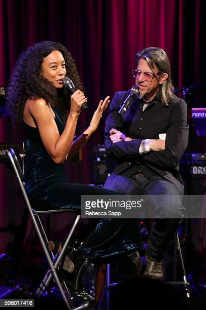 Singer/songwriter Corinne Bailey Rae speaks with Vice President of the GRAMMY Foundation Scott Goldman at The Drop Corinne Bailey Rae at The GRAMMY...