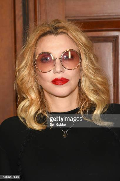 Singersongwriter Courtney Love attends the Marc Jacobs Fashion Show during New York Fashion Week at Park Avenue Armory on September 13 2017 in New...