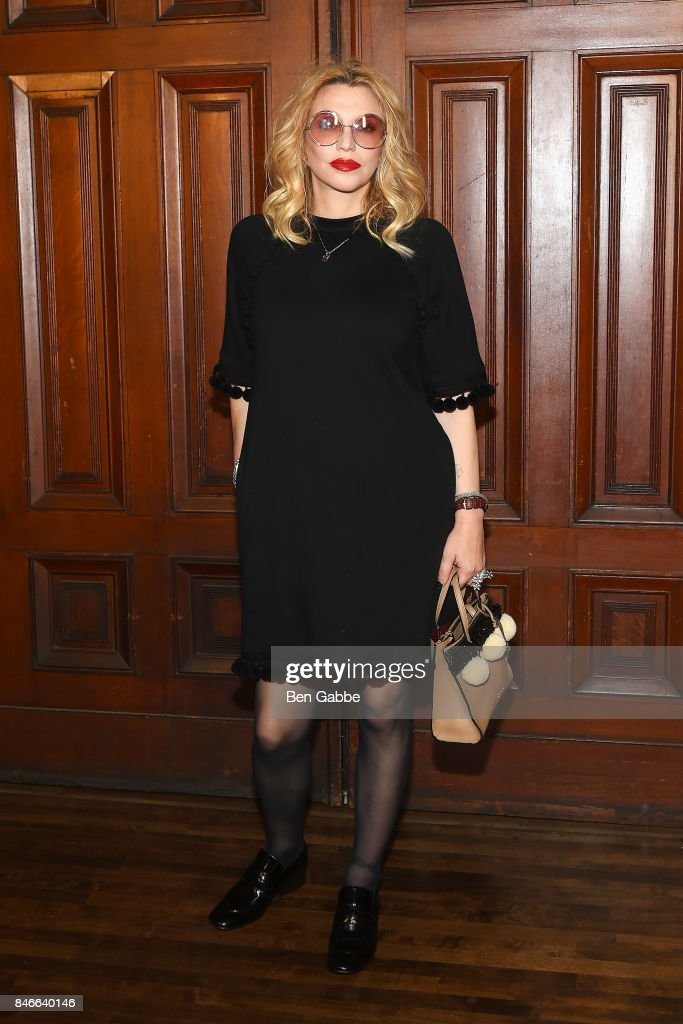 Singer-songwriter Courtney Love attends the Marc Jacobs Fashion Show during New York Fashion Week at Park Avenue Armory on September 13, 2017 in New York City.