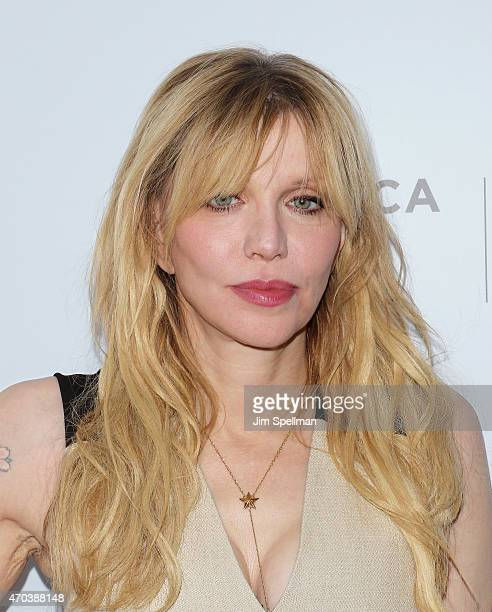 Singer/songwriter Courtney Love attends the New York premiere documentary 'Kurt Cobain Montage Of Heck' during the 2015 Tribeca Film Festival at...