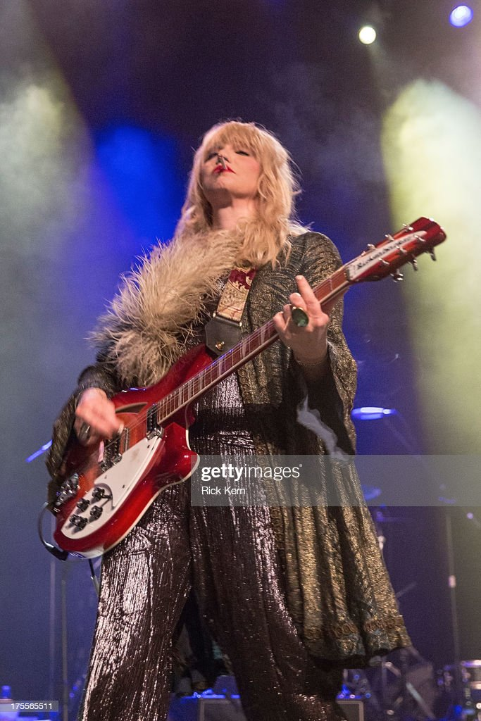 Singer-songwriter Courtney Love performs in concert at Emo's on August 3, 2013 in Austin, Texas.
