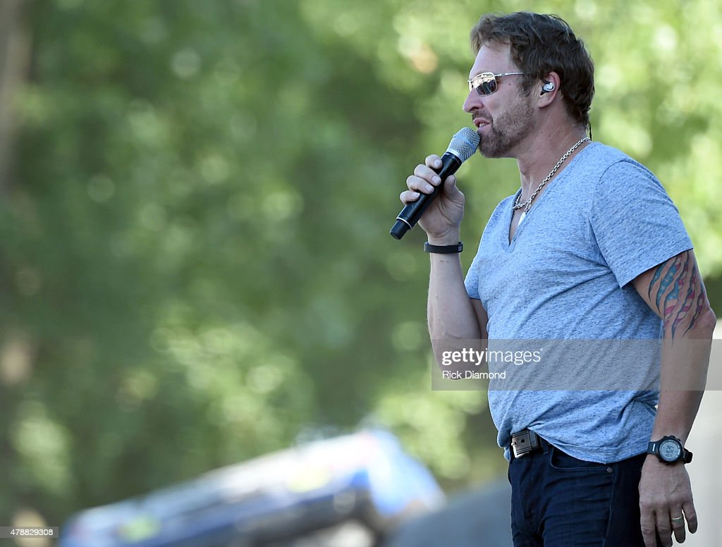 Singer/Songwriter <a gi-track='captionPersonalityLinkClicked' href=/galleries/search?phrase=Craig+Morgan&family=editorial&specificpeople=238953 ng-click='$event.stopPropagation()'>Craig Morgan</a> performs during 20th. Anniversaty of Kicker Country Stampede Manhattan, Kansas - Day 3 on June 27, 2015 at Tuttle Creek State Park in Manhattan, Kansas.