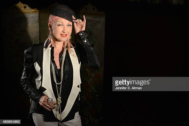 Singer/songwriter Cyndi Lauper is photographed for Boston Globe on July 30 2015 in New York City
