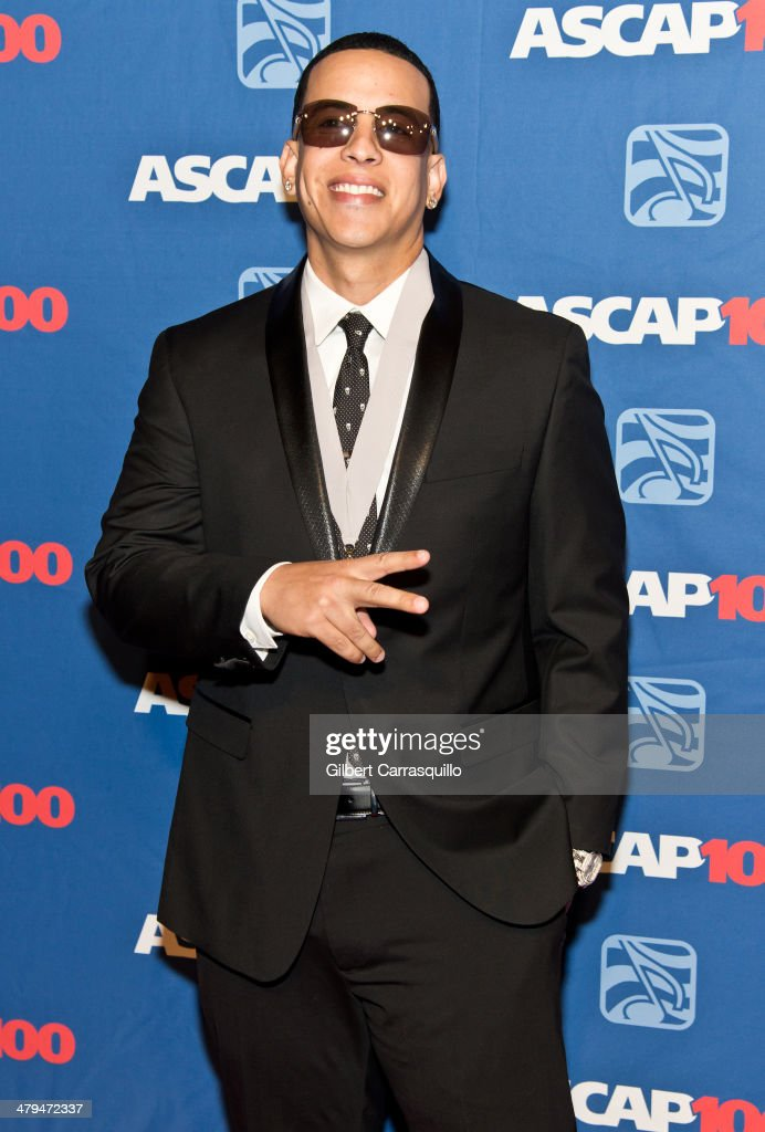 Singer-songwriter <a gi-track='captionPersonalityLinkClicked' href=/galleries/search?phrase=Daddy+Yankee&family=editorial&specificpeople=211185 ng-click='$event.stopPropagation()'>Daddy Yankee</a> attends the 22nd annual ASCAP Latin Music Awards at Hammerstein Ballroom on March 18, 2014 in New York City.