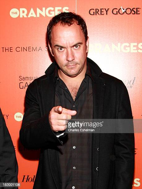 Singer/songwriter Dave Matthews attends The Cinema Society with The Hollywood Reporter Samsung Galaxy S III host a screening of 'The Oranges' at...