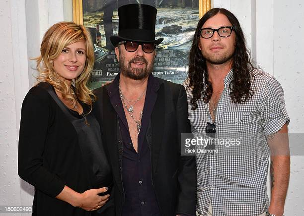 Singer/Songwriter Dave Stewart with Jessie Baylin and her husband Kings Of Leon band member Nathan Followill attend the 'The Ringmaster General'...
