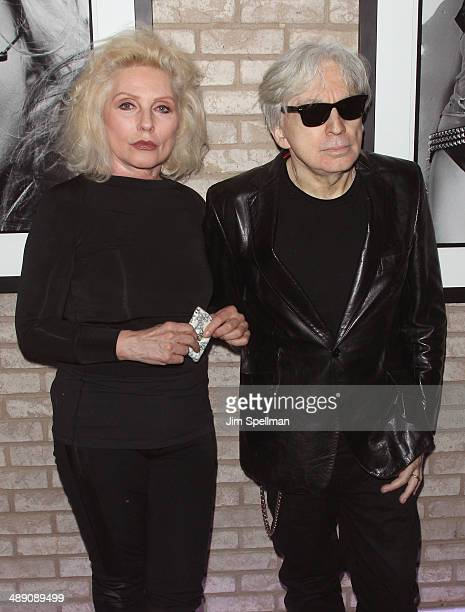 Singer/songwriter Debbie Harry and guitarist/photographer Chris Stein attend the 'Blondie 4 Ever' Exhibition Opening at Morrison Hotel Gallery on May...