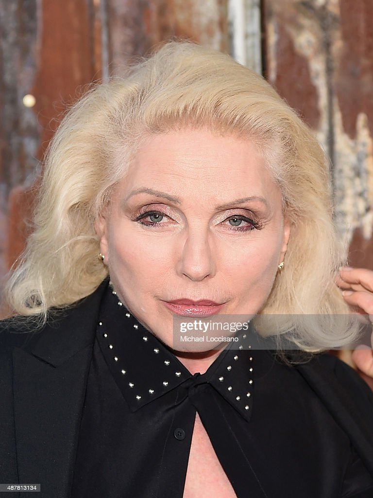 Singer-songwriter Debbie Harry attends the Givenchy fashion show during Spring 2016 New York Fashion Week at Pier 26 at Hudson River Park on September 11, 2015 in New York City.