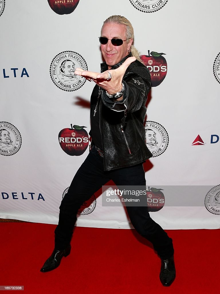 Singer/songwriter <a gi-track='captionPersonalityLinkClicked' href=/galleries/search?phrase=Dee+Snider&family=editorial&specificpeople=239139 ng-click='$event.stopPropagation()'>Dee Snider</a> attends The Friars Club Roast Honors Jack Black at New York Hilton and Towers on April 5, 2013 in New York City.