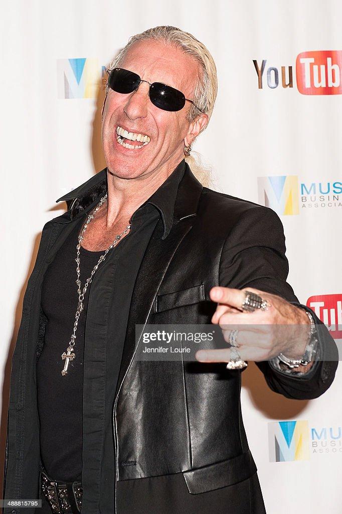 Singer-songwriter Dee Snider recieves the Harry Chapin Memorial Humanitarian Award at the Music Biz 2014 Awards at the Hyatt Regency Century Plaza on May 8, 2014 in Century City, California.