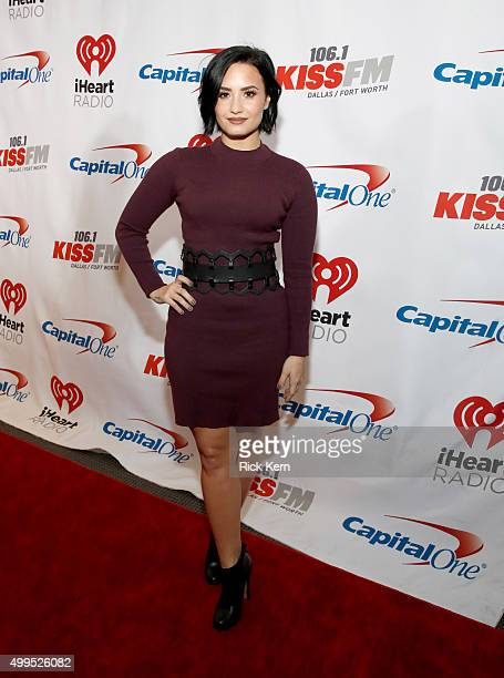 Singer/songwriter Demi Lovato attends 1061 KISS FM's Jingle Ball 2015 presented by Capital One at American Airlines Center on December 1 2015 in...