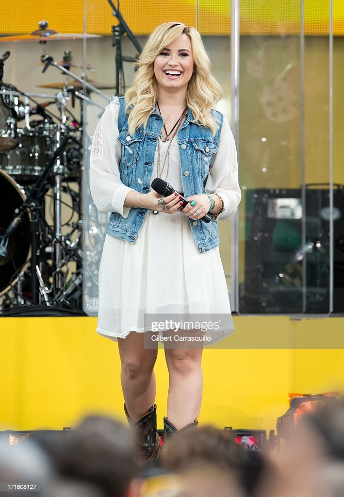 Singer-songwriter Demi Lavato performs during ABC's 'Good Morning America' at Rumsey Playfield on June 28, 2013 in New York City.