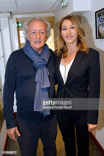 Singersongwriter Didier Barbelivien and actress Mathilde Seigner attend the 'Vivement Dimanche' French TV Show at Pavillon Gabriel on May 27 2015 in...