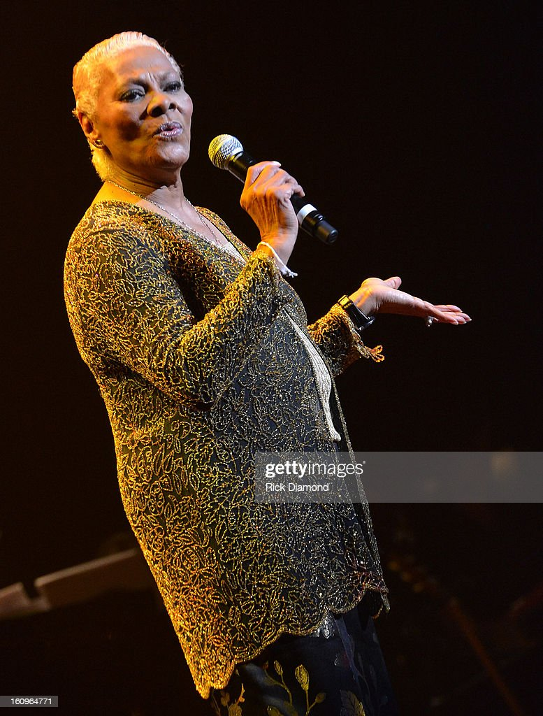 Singer/Songwriter Dionne Warwick performs during The 55th Annual GRAMMY Awards - Music Preservation Project 'Play It Forward' at the Saban Theater on February 7, 2013 in Los Angeles, California.