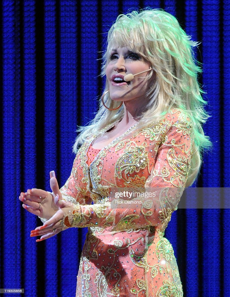 Singer/Songwriter Dolly Parton performs during the 'Better Day' world tour opener at the ThompsonBoling Arena on July 17 2011 in Knoxville Tennessee