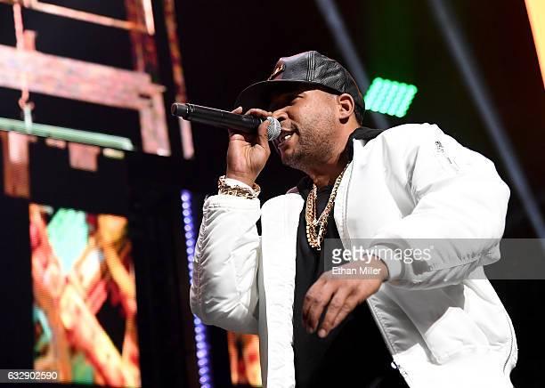 Singer/songwriter Don Omar performs during Calibash Las Vegas at TMobile Arena on January 27 2017 in Las Vegas Nevada