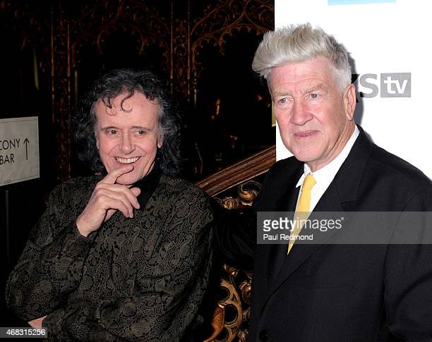 Singer/songwriter Donovan and director David Lynch arriving at The Music of David Lynch Benefiting the 10th anniversary of The David Lynch Foundation...