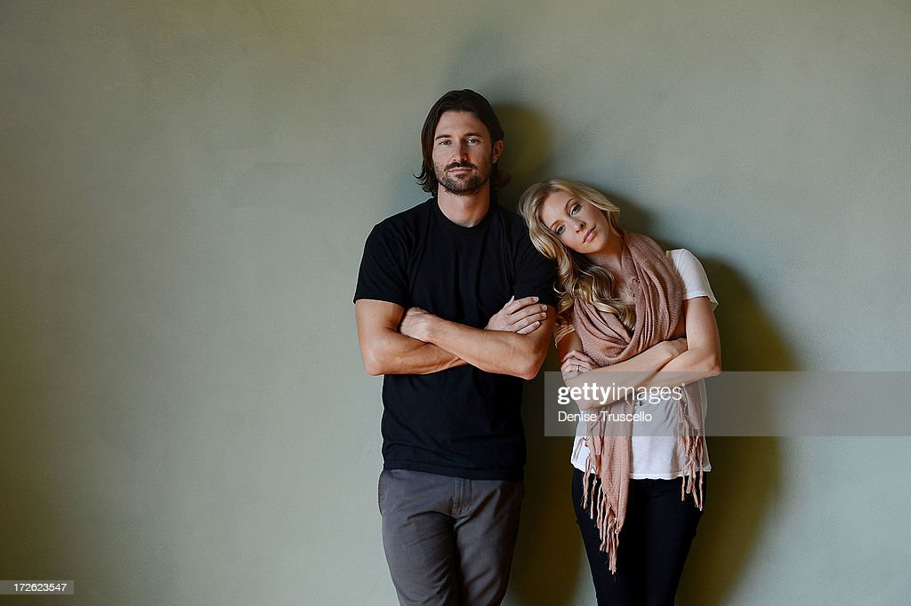 Singer/Songwriter Duo Brandon Jenner & Leah Jenner Of Brandon & Leah Portrait Shoot At Casa LucaMarco