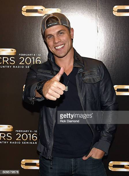 Singer/Songwriter Dustin Lynch attend CRS 2016 Day 2 at the Omni Hotel on February 9 2016 in Nashville Tennessee