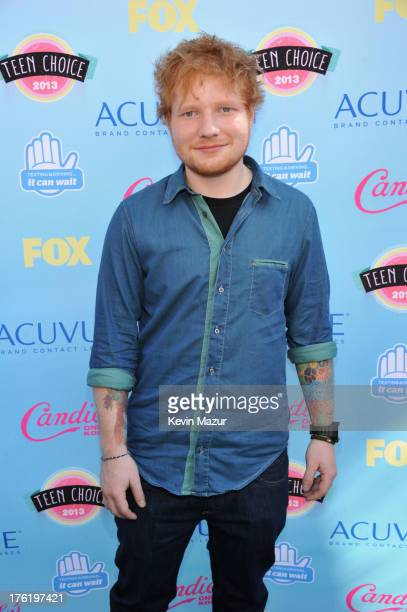 Singer/songwriter Ed Sheeran attends the 2013 Teen Choice Awards at Gibson Amphitheatre on August 11 2013 in Universal City California
