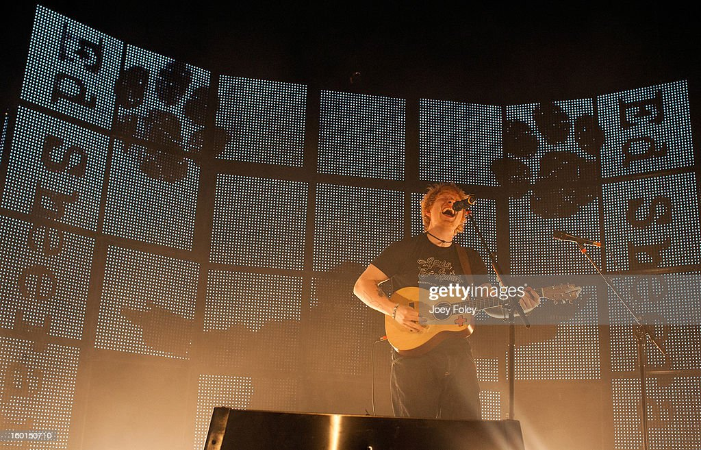 Singersongwriter Ed Sheeran performs in concert at the Murat Egyptian Room on January 26 2013 in Indianapolis Indiana