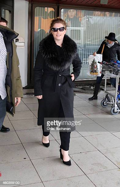 Singersongwriter Ella Henderson sighted at Tegel Airport on December 12 2014 in Berlin Germany