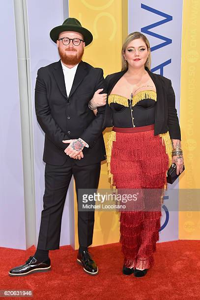 Singersongwriter Elle King and Andrew 'Fergie' Ferguson attend the 50th annual CMA Awards at the Bridgestone Arena on November 2 2016 in Nashville...