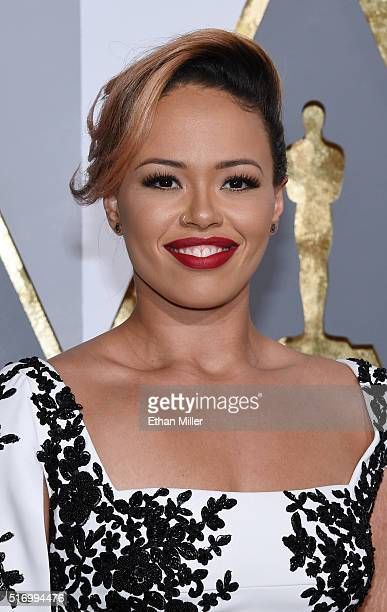 Singer/songwriter Elle Varner attends the 88th Annual Academy Awards at Hollywood Highland Center on February 28 2016 in Hollywood California