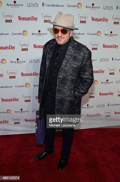 SingerSongwriter Elvis Costello attends the Woman's Day Red Dress Awards on February 10 2015 in New York City