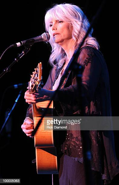 Singer/Songwriter Emmylou Harris performs during the 'Music Saves Mountains' benefit concert at the Ryman Auditorium on May 19 2010 in Nashville...