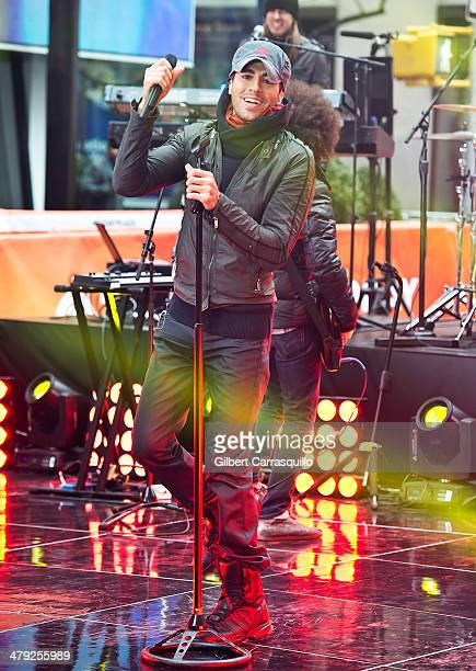 Singersongwriter Enrique Iglesias performs on NBC's 'Today' at the NBC's TODAY Show on March 17 2014 in New York New York