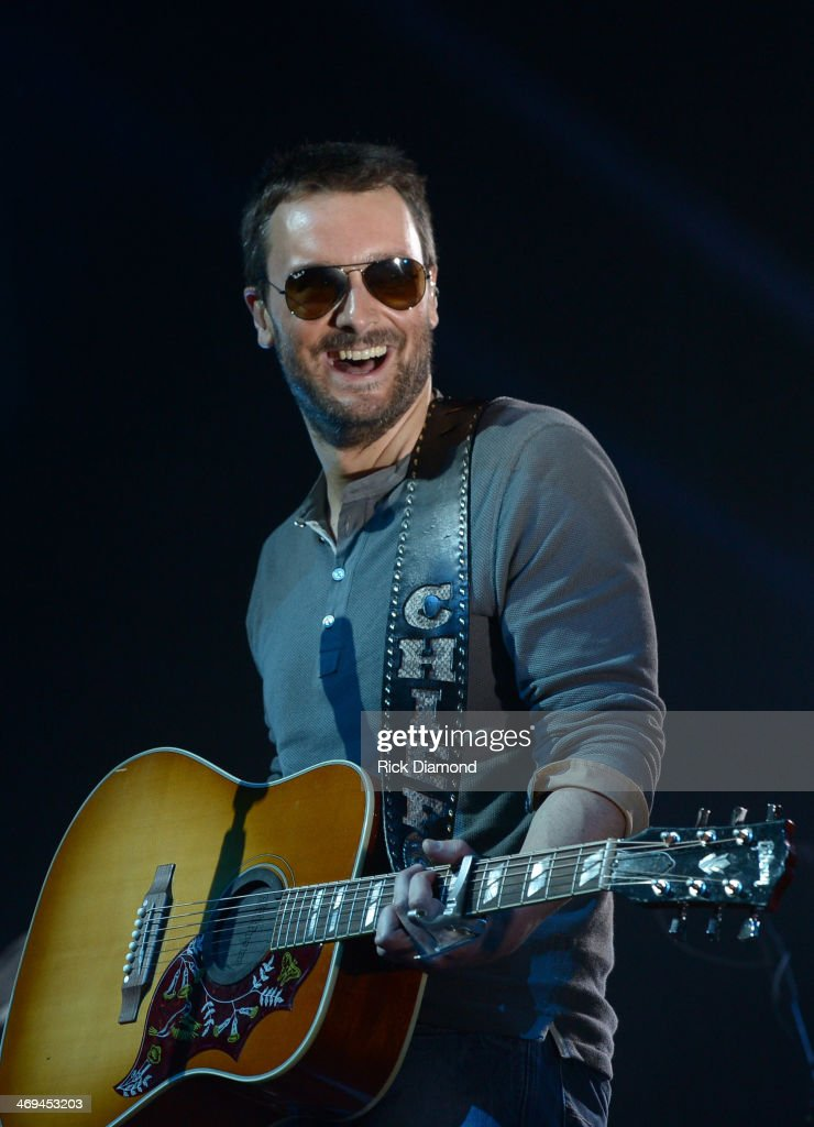 Singer/Songwriter <a gi-track='captionPersonalityLinkClicked' href=/galleries/search?phrase=Eric+Church&family=editorial&specificpeople=619568 ng-click='$event.stopPropagation()'>Eric Church</a> Celebrates the release of his new album 'The Outsiders' with The Outsiders Live Tour at the Buckhead Theatre on February 14, 2014 in Atlanta, Georgia.