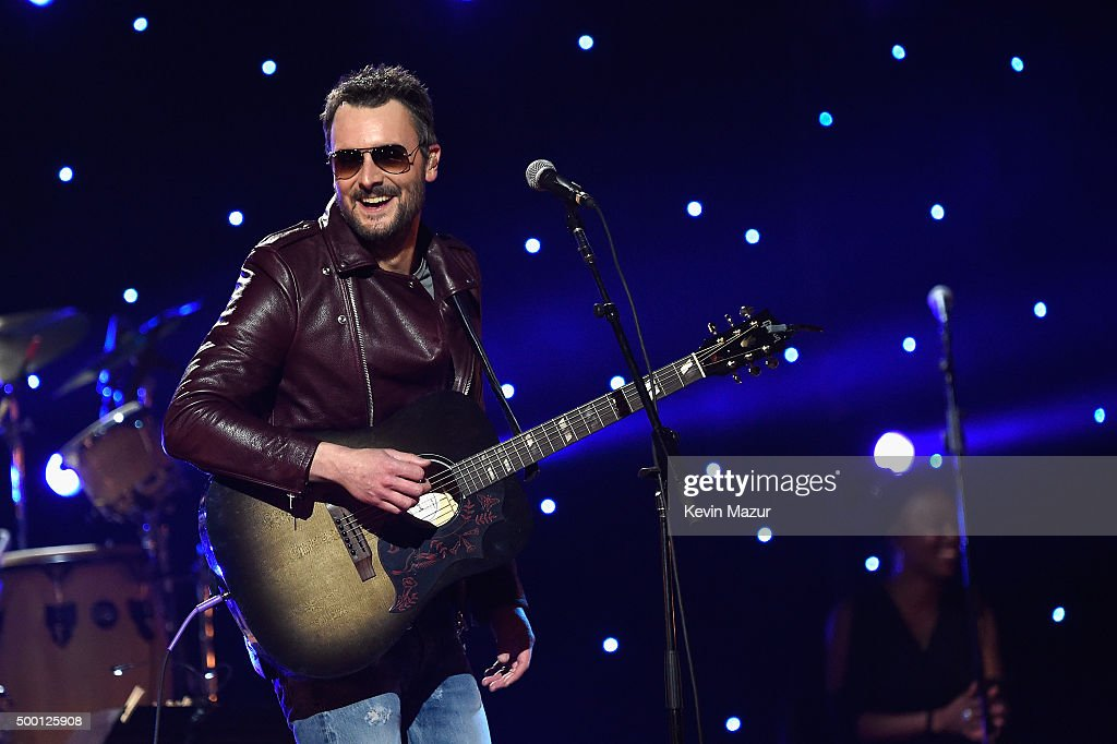 Singersongwriter Eric Church performs on stage during the Imagine John Lennon 75th Birthday Concert at The Theater at Madison Square Garden on...
