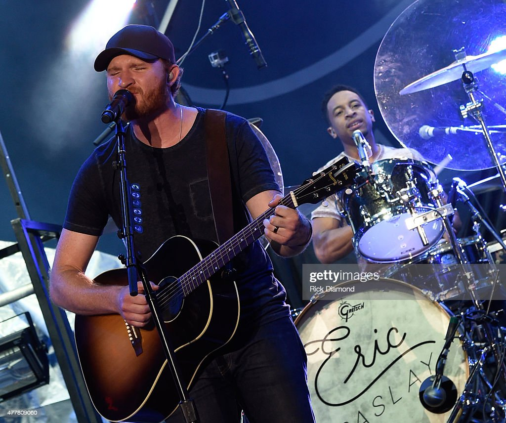 Singer/songwriter Eric Paslay performs during The 4th Annual Pepsi's Rock The South Festival on June 19 2015 Heritage Park in Cullman Alabama