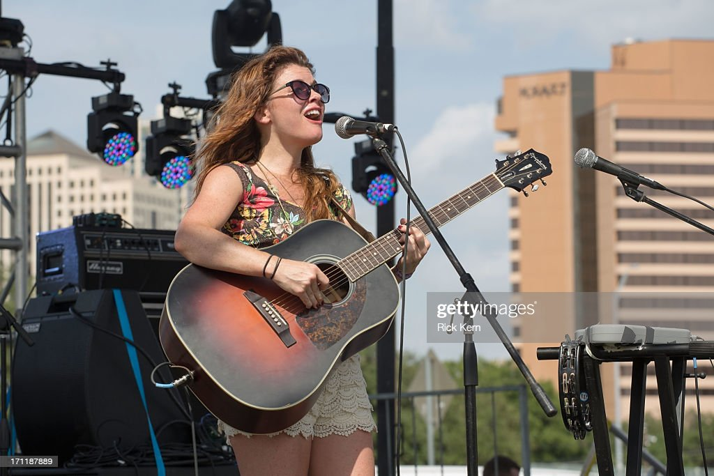 Singer-songwriter Erin McCarley performs in concert during the Keep Austin Weird Festival at The Long Center on June 22, 2013 in Austin, Texas.