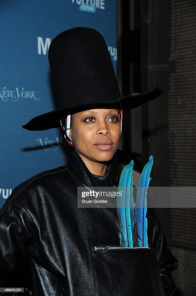 Singersongwriter Erykah Badu attends the Vulture Festival Opening Night Party at Neuehouse on May 9 2014 in New York City