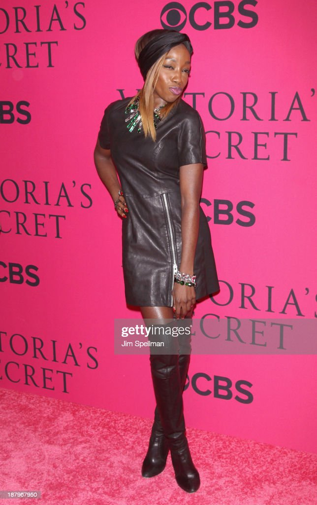 Singer/songwriter Estelle attends the 2013 Victoria's Secret Fashion Show at Lexington Avenue Armory on November 13, 2013 in New York City.