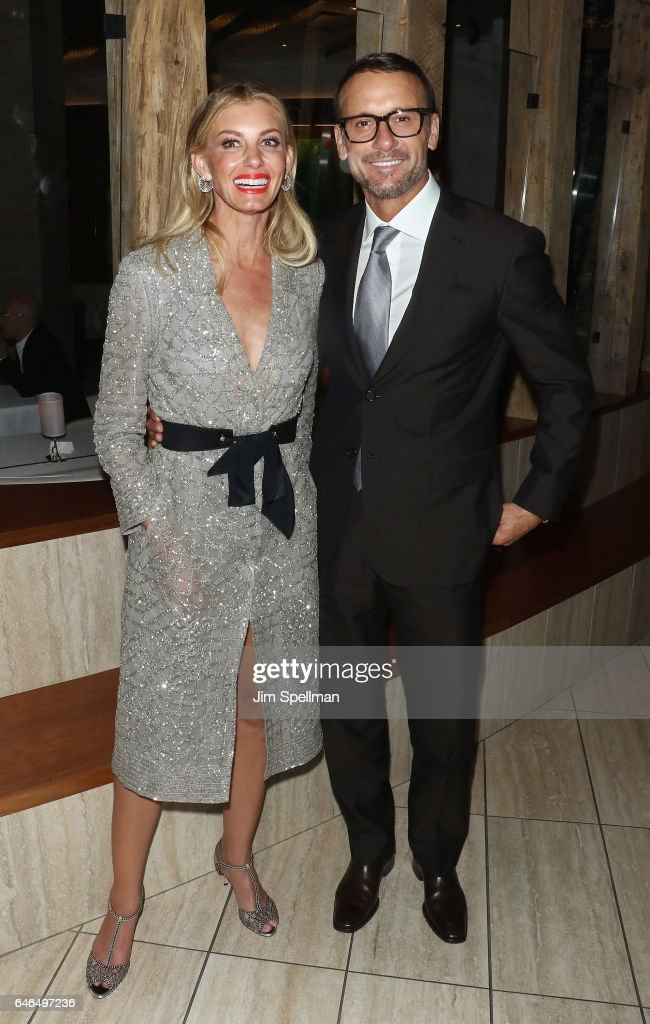 Singer/songwriter Faith Hill and actor/singer Tim McGraw attend the world premiere after party for 'The Shack' hosted by Lionsgate at Gabriel Kreuther on February 28, 2017 in New York City.