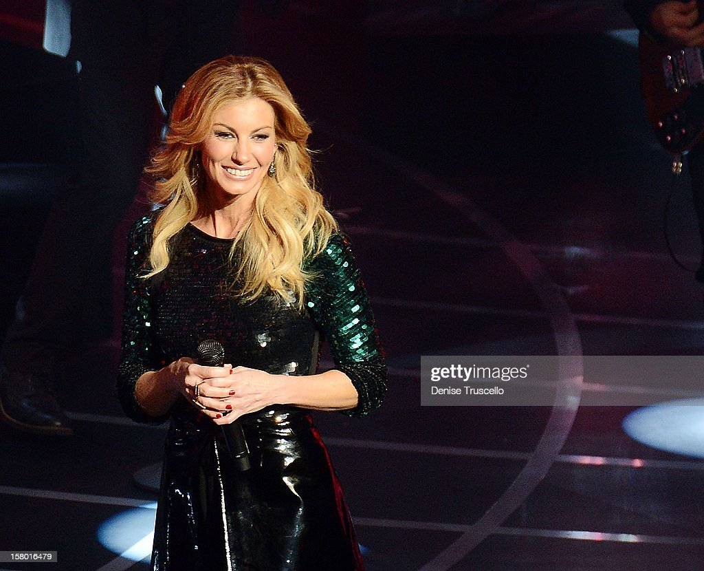 Singer/songwriter Faith Hill performs during the opening weekend of her limited-engagement 'Soul2Soul' show with her husband, singer Tim McGraw, at The Venetian on December 8, 2012 in Las Vegas, Nevada. The country music couple is scheduled to perform on 10 weekends through April 2013.